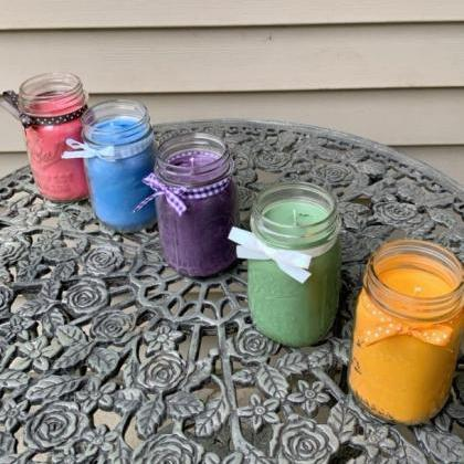 Rainbow Spectrum pint sized candles..