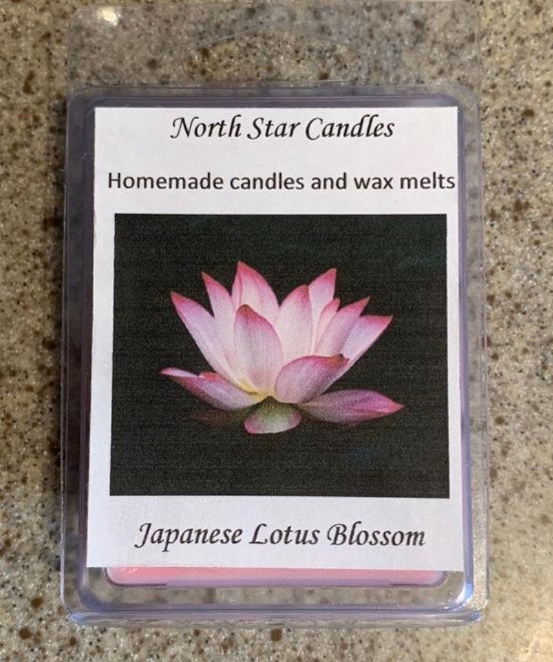 Japanese Lotus Blossom wax melts-soy wax melts-pink wax melts-Japan-pastel wax melts-spa scents-party favors-customizable wax melts-wedding