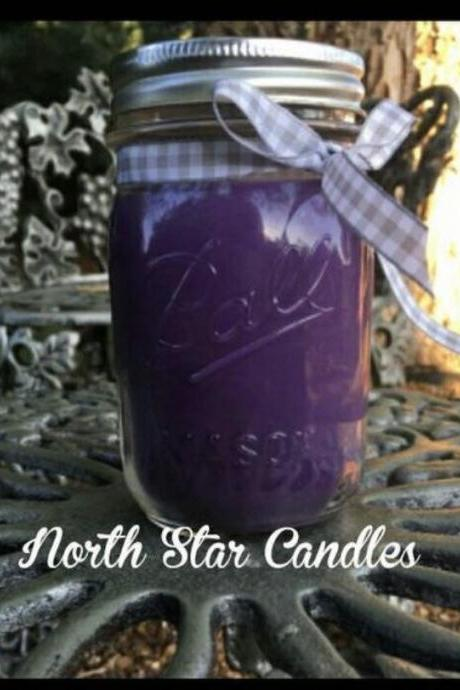 Lavender Soy Candle-homemade candles-candles with wicks-mason jar candles-purple-scented candles-wedding decorations-gifts for her-spa scent