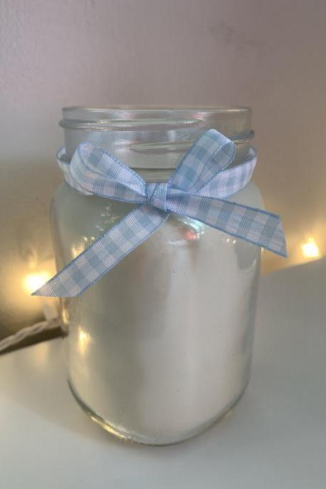 Clean Linen White Candle-pint sized candle-soy candle-scented candle-white candle-wax melts-spa candles-party favors-wedding-home decor-jar